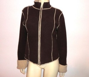 Ralph Lauren Faux Suede Sherpa Shearling Coat Brown Jacket