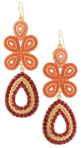 Stella & Dot Capri Chandelier Earrings - Coral