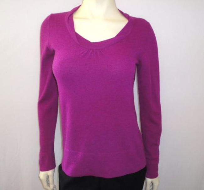 Banana Republic Purple Magenta Wool Cashmere Blend Sweater Banana Republic Purple Magenta Wool Cashmere Blend Sweater Image 1
