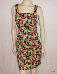Laundry by Shelli Segal Black Floral Print Sleeveless Dress