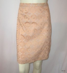 Banana Republic 0 Circle Eyelet Embroidered Skirt Beige
