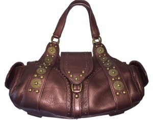 Cole Haan Studded Metallic Leather Shoulder Bag