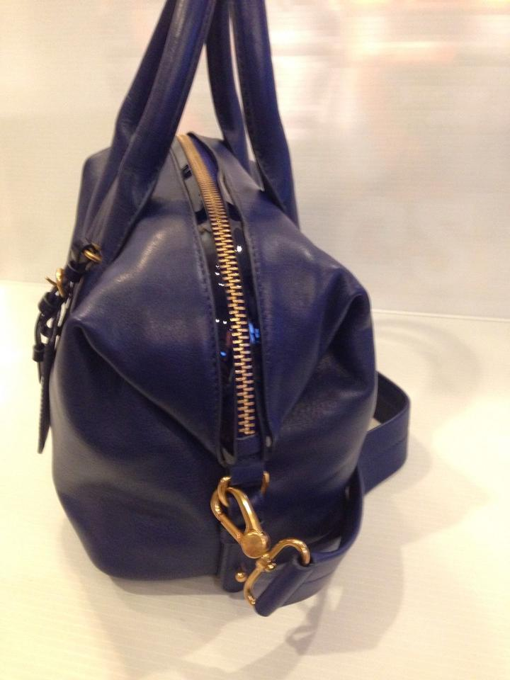 bf597cf67e2d Marc by Marc Jacobs Legend Medium Blue Leather Satchel - Tradesy