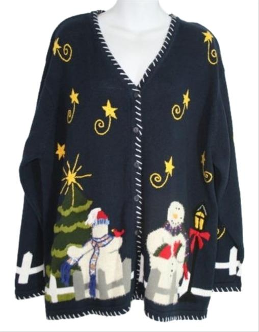 Preload https://img-static.tradesy.com/item/2986480/quacker-factory-christmas-holiday-snowman-cardigan-blue-sweater-0-1-650-650.jpg
