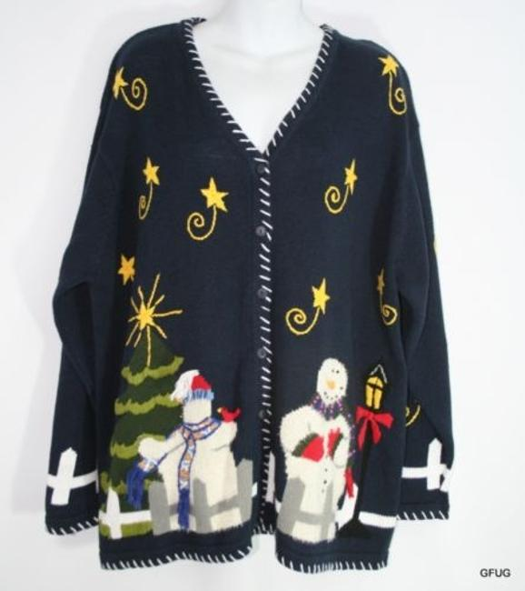 Preload https://item1.tradesy.com/images/quacker-factory-oatmeal-blue-christmas-holiday-snowman-cardigan-sweaterpullover-size-20-plus-1x-2986480-0-0.jpg?width=400&height=650