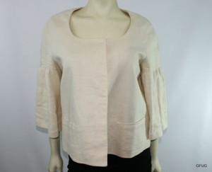 Banana Republic Banana Republic Ivory Linen Cropped Blazer Jacket Princess Sleeves
