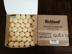 72 Perfect Unused Ivory Votive Candles