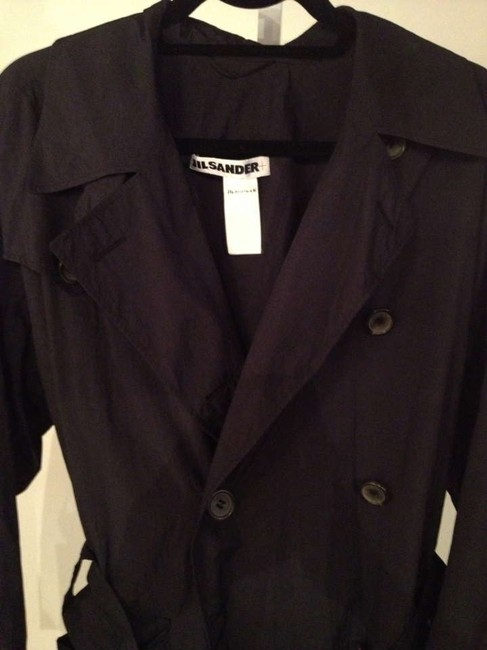 Jil Sander Trench Body Length Polyester Trench Coat