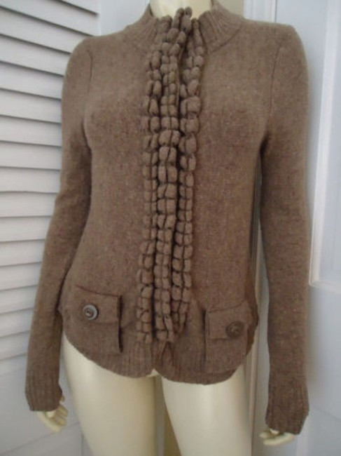 Anthropologie Moth Snap Front Cardigan Wool Blend Classy Sweater