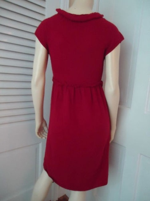 Knitted Knotted Anthropologie Dress Red Sweater Knit Rayon Wool Cashmere Blend Knitted Knotted Anthropologie Dress Red Sweater Knit Rayon Wool Cashmere Blend Image 8