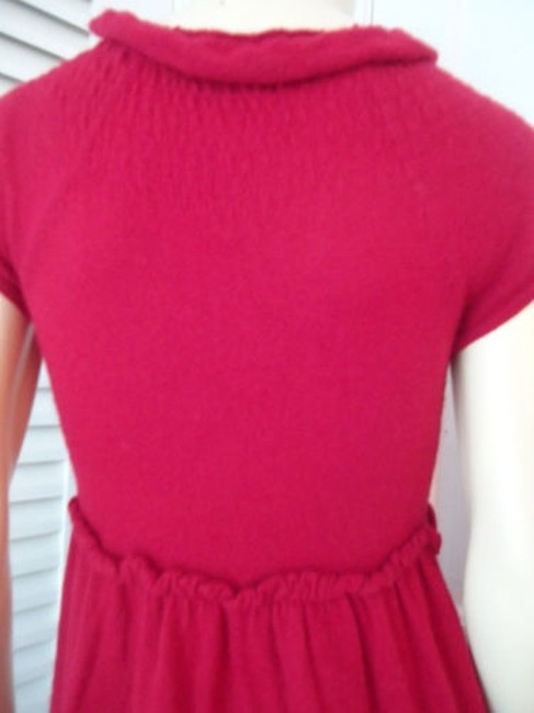 Knitted Knotted Anthropologie Dress Red Sweater Knit Rayon Wool Cashmere Blend Knitted Knotted Anthropologie Dress Red Sweater Knit Rayon Wool Cashmere Blend Image 9
