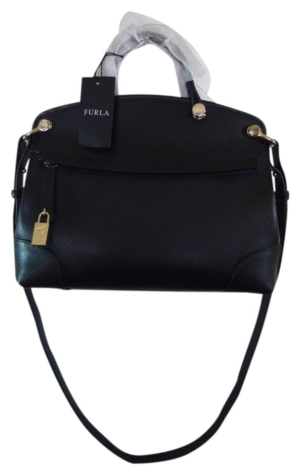 Piper Saffiano Furla Leather Black Satchel Petite 0BqApnR