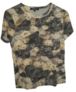 Karen Kane Floral T Shirt Yellow and black