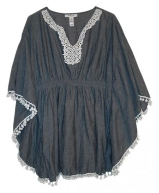 Preload https://img-static.tradesy.com/item/29886/style-and-co-denim-lace-blouse-size-12-l-0-0-650-650.jpg