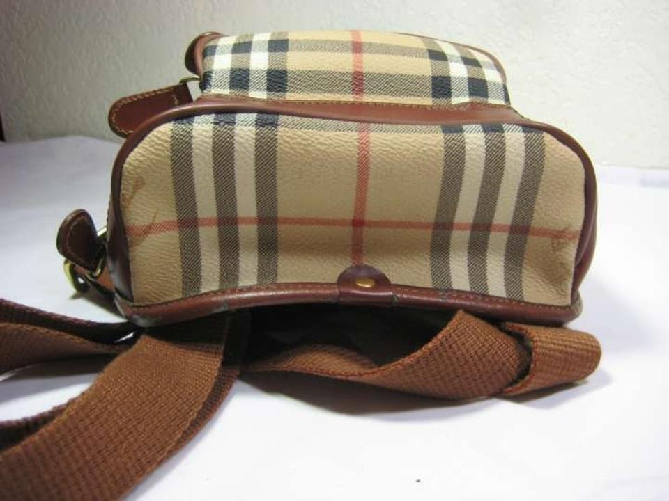 3c24ded53a Burberry Price Reduced Vintage Small Bag/ Plaid W/ Cognac Leather ...