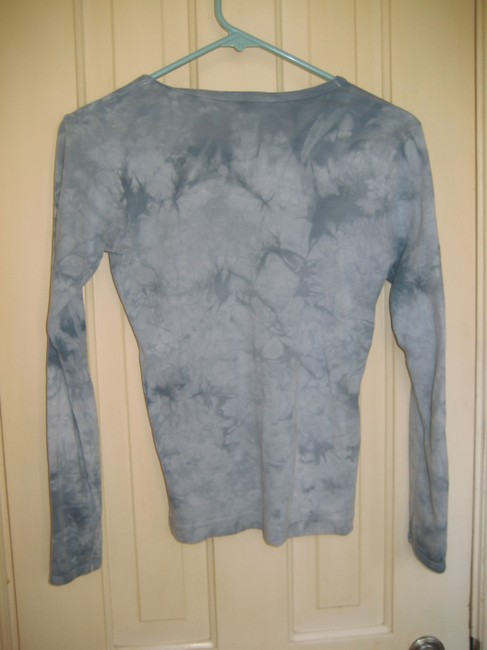 Iskander Long Sleeved Cotton T Shirt blue