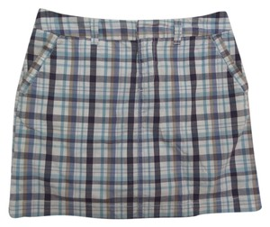Sonoma Skort Skort Blue, Brown & White Plaid