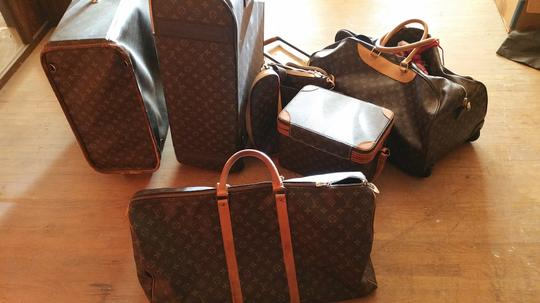 Louis Vuitton Pre-owned Pre-loved Largest Size Very Roomy Carryall Brown monogram Travel Bag