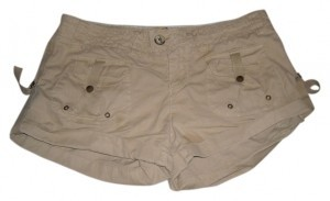 American Eagle Outfitters Mini/Short Shorts Tan Khaki