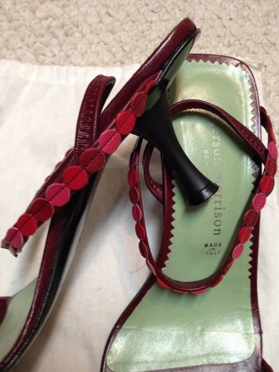 Sigerson Morrison Pink-red-maroon Sandals