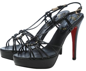 Christian Louboutin Sandal Strappy Black Platforms