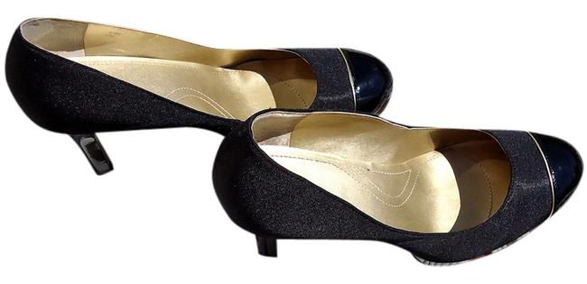 Elie Tahari Black/Gold Laurie Pumps Size US 10 Regular (M, B) Elie Tahari Black/Gold Laurie Pumps Size US 10 Regular (M, B) Image 1