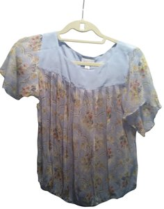 Paul & Joe Top light blue floral