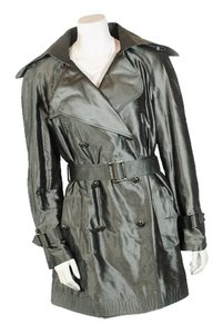 Chanel Belt Belted Silk Trench Coat