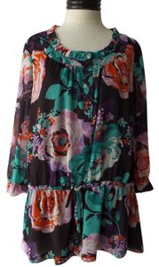Emma James Top Multi Color Floral Print