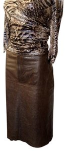 Banana Republic Skirt Distressed Brown