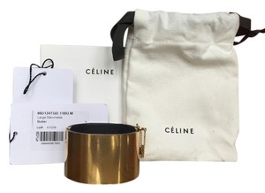 Celine Guaranteed Authentic Celine Gold Plated Cuff