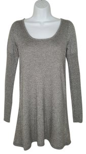 Kate Moss for Topshop Cashmere Tunic Sheen Silver Sweater