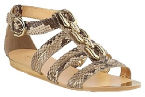 Coach Leather Gold Hardware Python Sandals
