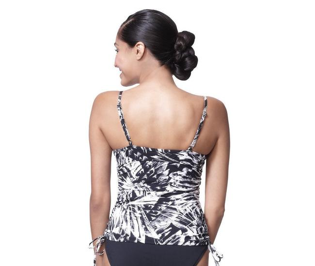 Spanx Love Your Assets Spanx Power Suit Tankini Top Black White S Small