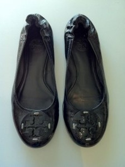 Tory Burch Patent Leather Ballerina Black Flats