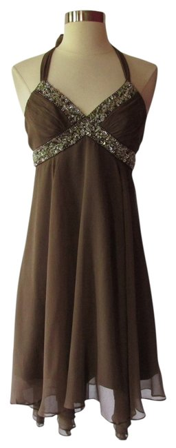 Preload https://item5.tradesy.com/images/bcbgmaxazria-brown-knee-length-cocktail-dress-size-6-s-2992804-0-0.jpg?width=400&height=650