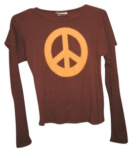 Love Letters Peace Longsleeve T Shirt Brown