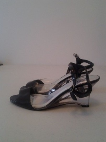 Rialto Black and Clear Wedges