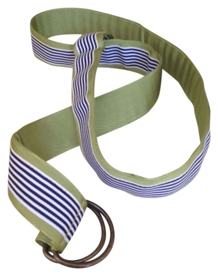 Preload https://item1.tradesy.com/images/jcrew-green-navy-white-stripe-grosgrain-ribbon-nautical-belt-299340-0-0.jpg?width=440&height=440