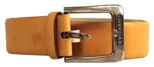 BVLGARI Bvlgari Camel Leather Silver Buckle Belt