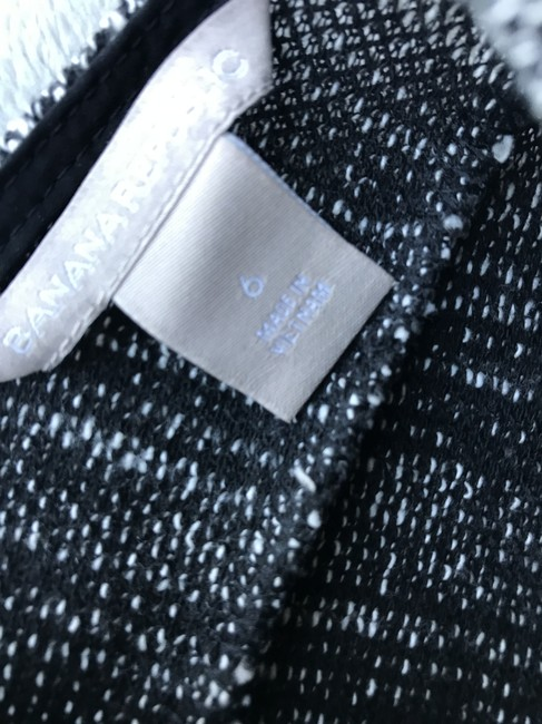 Banana Republic Black and White Marled Tweed Fit-and-flare Short Work/Office Dress Size 6 (S) Banana Republic Black and White Marled Tweed Fit-and-flare Short Work/Office Dress Size 6 (S) Image 10