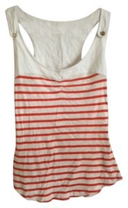 Anthropologie Top red and white stripe