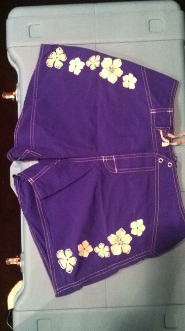 Other Shorts blue with white flower