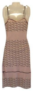 Max Studio short dress Light Pink with multi color polka dots Drawstring Side Ruching on Tradesy