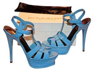 Saint Laurent Tribute Ysl Blu Ciel (Powder blue/Sky Blue) Sandals