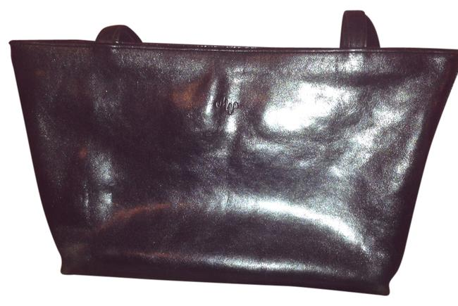 Black Leather Tote Black Leather Tote Image 1