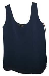 A.B.S. by Allen Schwartz Polyester Abs Top Navy