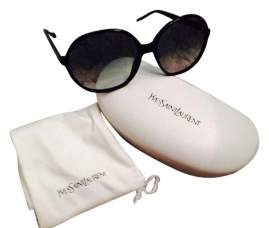 Saint Laurent Ysl Oversized Round Black Sunglasses