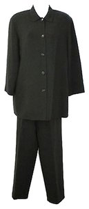 Lafayette 148 New York LAFAYETTE NEW YORK 148 BUTTONED BLACK WOOL PANT SUIT 10