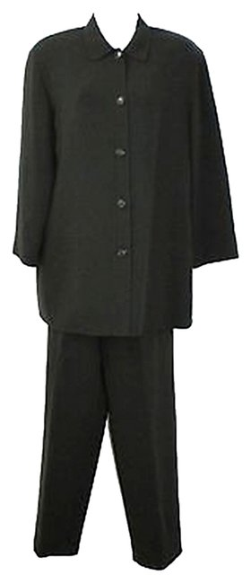 Preload https://img-static.tradesy.com/item/2995081/lafayette-148-new-york-black-buttoned-wool-pant-suit-size-10-m-0-0-650-650.jpg
